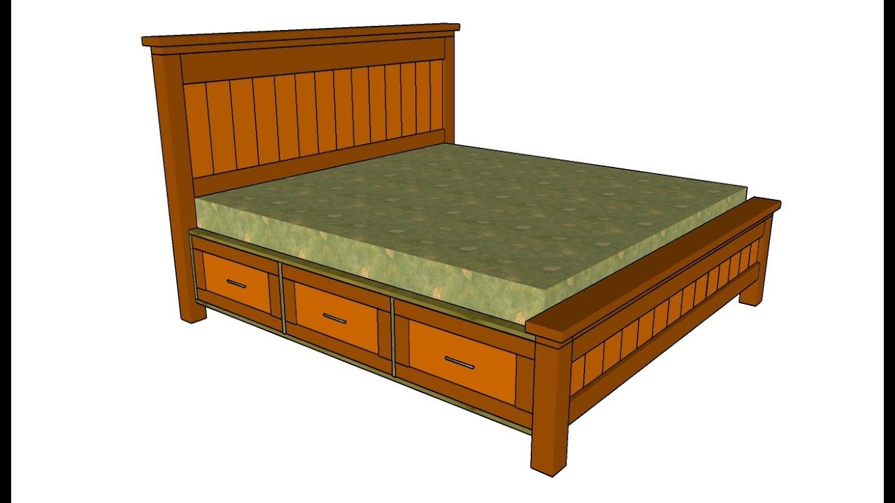Bed frame design with drawers - Bed Frame Design With Drawers 3
