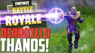 DERROTEI O THANOS dO MODO MAIS FÁCIL! - Fortnite novo modo Thanos!