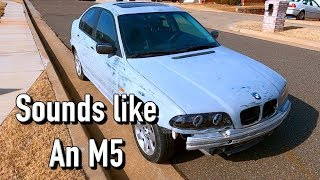 $200 BMW 325xi e46 from Copart - New Exhaust PT2