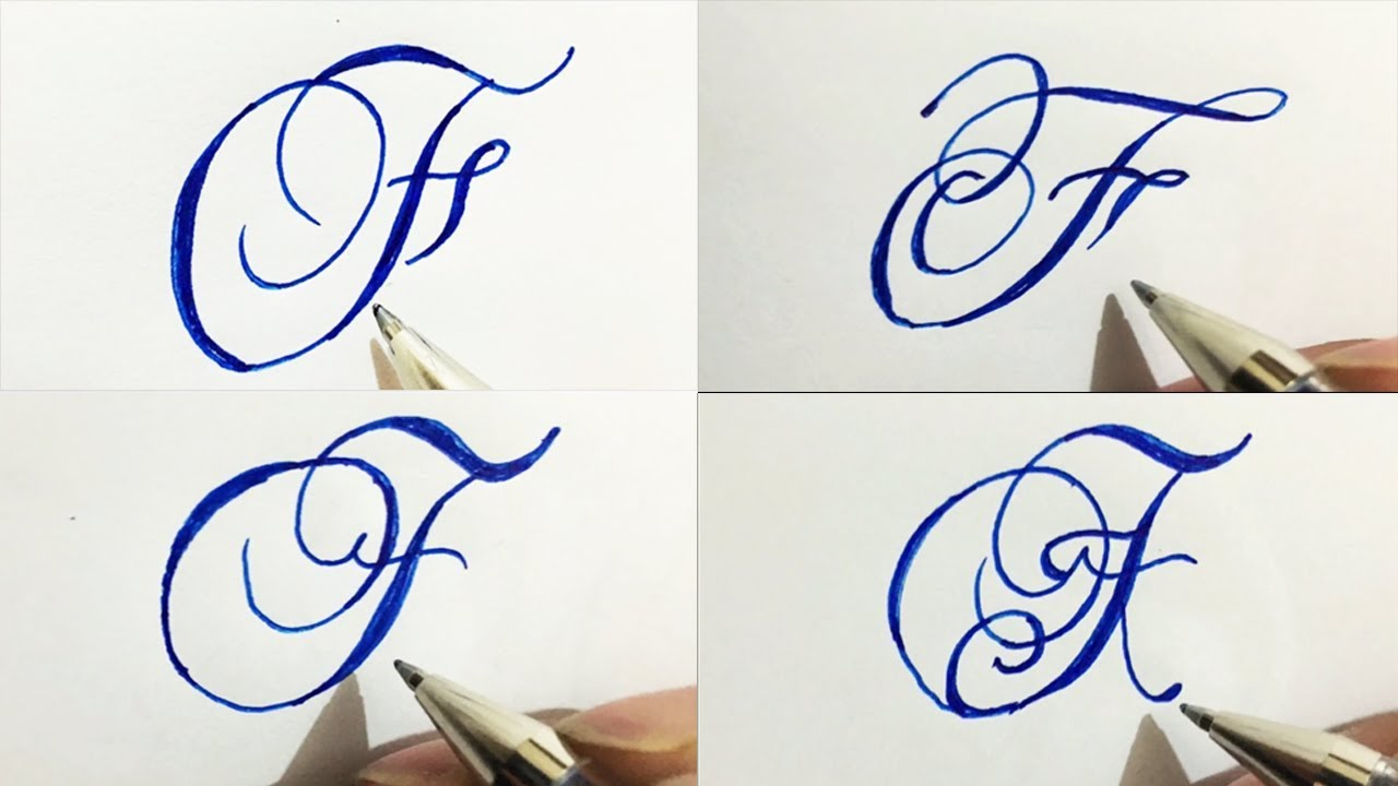 Calligraphy Cursive F Capital Letter
