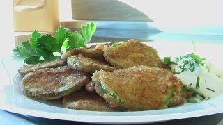 Кабачки в сухарях видео рецепт