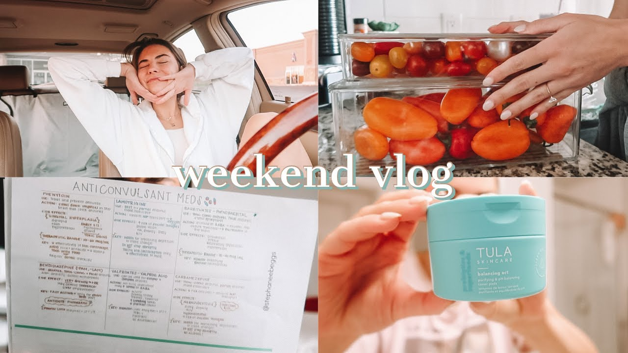 Download VLOG   studying for my last nursing school exam ever!! Fave skincare products & halloween decor