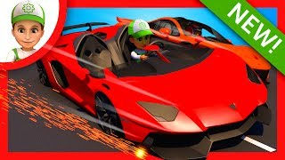 Blaze and the Monster Machines. Handy Andy Super car's race - cartoon for Children