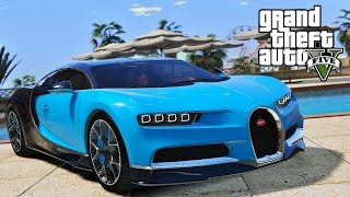GTA 5 - NEW 2016 BUGATTI CHIRON ! FASTEST CAR !?