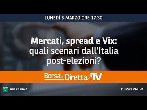 Borsaindiretta TV - Mercati, spread e Vix: quali scenari dall'Italia post-elezioni?