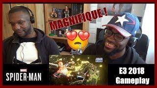 Marvel's spider-man ps4 – e3 2018 gameplay - live reaction [fr]