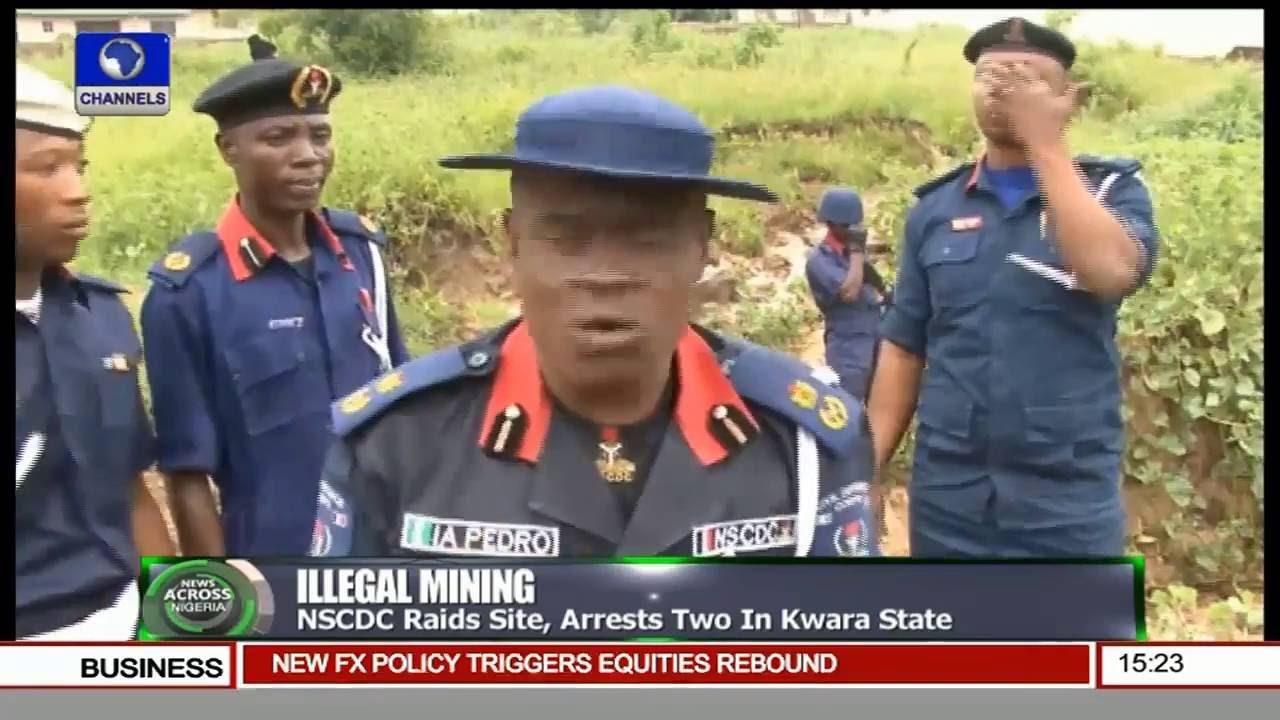 News Across Nigeria: NSCDC Busts Kwara Illegal Mining Ring
