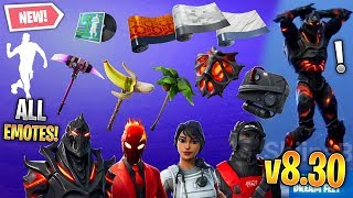 *ALL* Fortnite v8.30 Leaked Skins, Emotes & More! (OG Reflex, Ruin, Banana Axe, Inferno, Emotes)