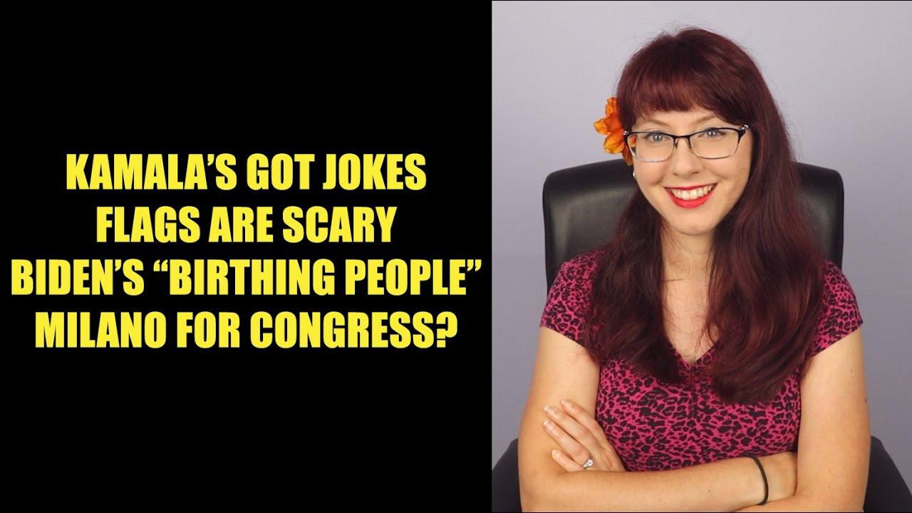 Liberty Minute: Kamala's Got Jokes, Flags Are Scary, Biden's Birthing People