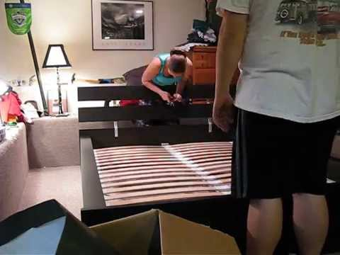 putting together the ikea bed time lapse 2 youtube