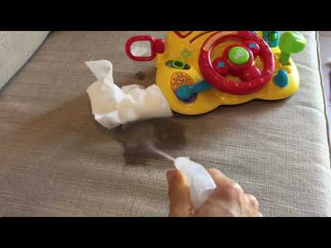 How to clean baby vomit from couch carpet matress clothes car seat fabric - Clean Baby Vomit