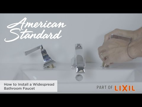 How To Install A Widespread Bathroom Faucet By American Standard