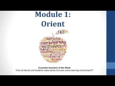 Best Practices for Online Teaching & Learning:  Module 1-Orient