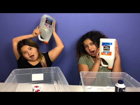 MAKING SLIME BACKWARDS CHALLENGE -  Reverse Slime Making tutorial