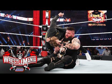 Kevin Owens hits Stunner on Logan Paul: WrestleMania 37 – Night 2 (WWE Network Exclusive)