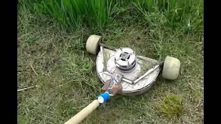 видео самодельная газонокосилка электрическая двигатель