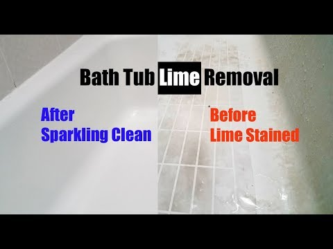 Easy Bathtub Lime Removal