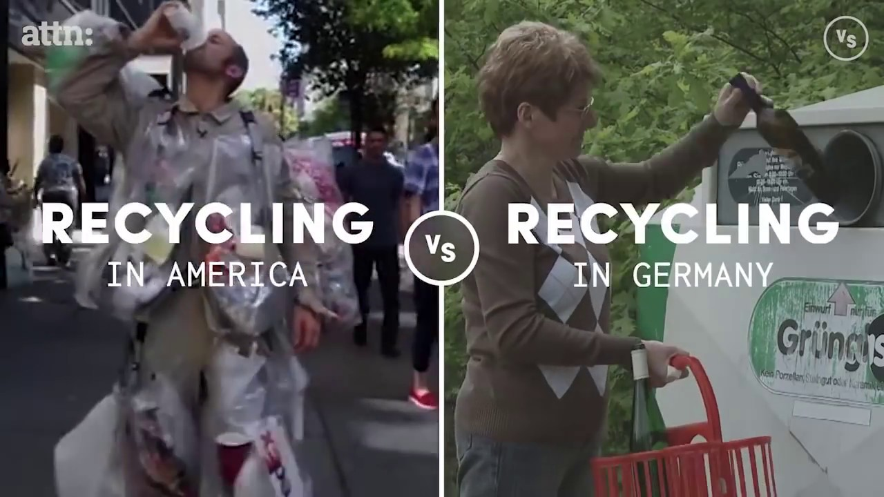 Recycling in America VS Germany (ATTN video)