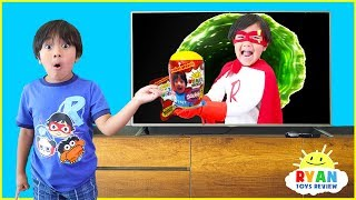 Ryan Pretend Play with Giant Surprise Toys Hide and Seek!!! thumbnail