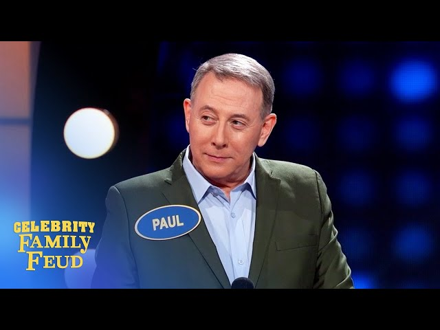 Can Pee-wee Herman save the day on Celebrity Family Feud?!