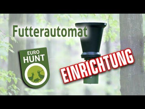 Einrichtung Der EUROHUNT Futterautomaten 6V, 12V, Pro
