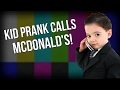 GUY PRETENDS TO BE A KID PRANK CALLS MCDONALD'S!!