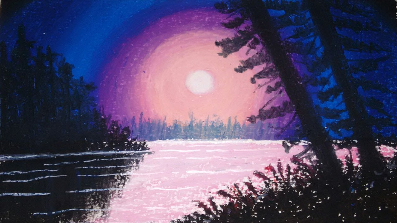 how to draw the northern lights with pastels