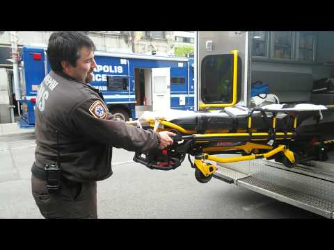 Minneapolis Police Department Open House - Ambulance Stretcher Demo (May 12th, 2015)