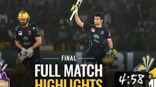 PSL 2019 Final: Peshawar Zalmi vs Quetta Gladiators | Full Match Highlights With new song of quetta
