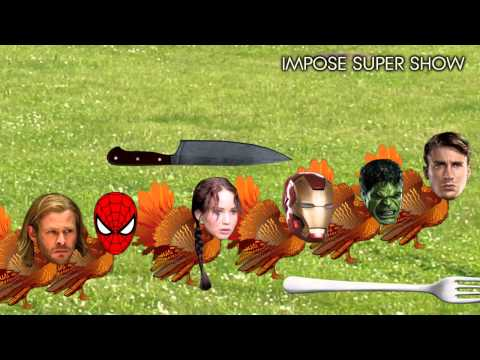 The Avengers Thanksgiving Turkeys fight the Hunger Games! Funny!