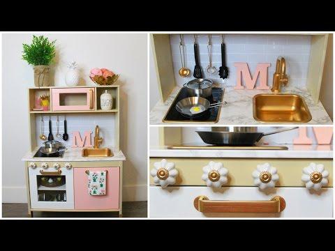 DIY- MODERN IKEA PLAY KITCHEN HACK!