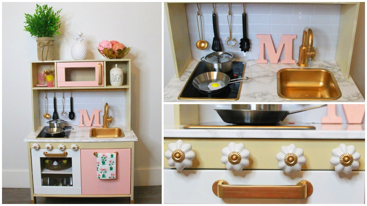 Diy modern ikea play kitchen hack youtube - Mini cocina ikea ...