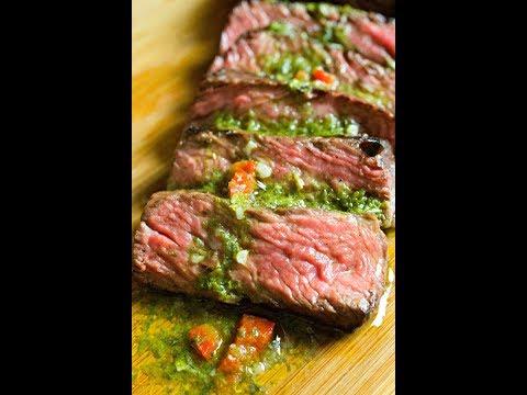 Easy Herb Crusted Steak + Chimichurri With Dorot