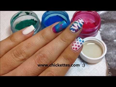 Nail Art Techniques using CND Additives / Pigment Powders