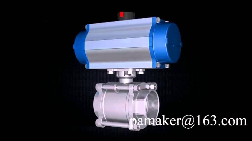 Pneumatic actuator for valve