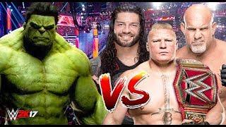 Hulk vs Goldberg, Roman Reigns & Brock Lesnar