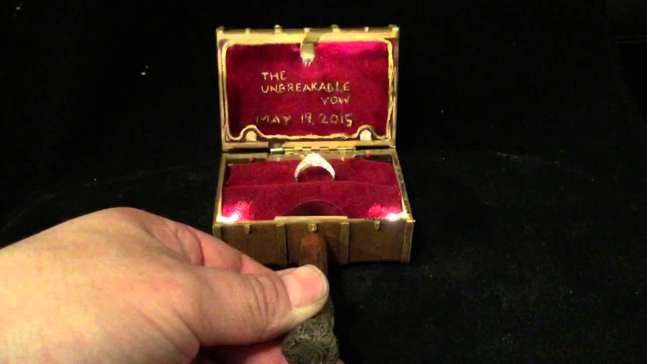 Harry Potter Magic Trunk Custom Engagement Ring Box By Paul Youtube