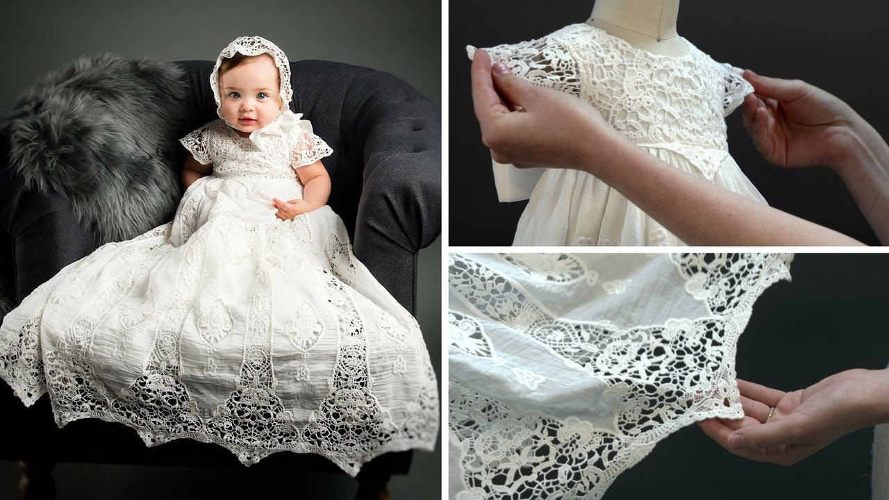 Grace Christening Gown & Bonnet - YouTube