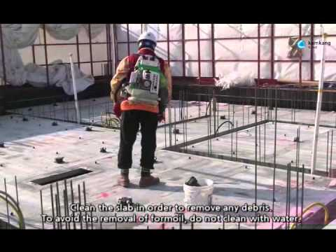 Installation of Kumkang Aluminum Formwork at jobiste Korea
