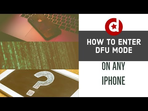 How to put iPhone 6 / 7 / X in DFU mode
