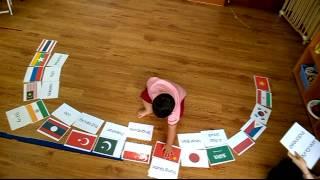 Bé nhận biết tên và cờ các quốc gia _ NGUYỄN HOÀNG KHANG - Nursery 3.4
