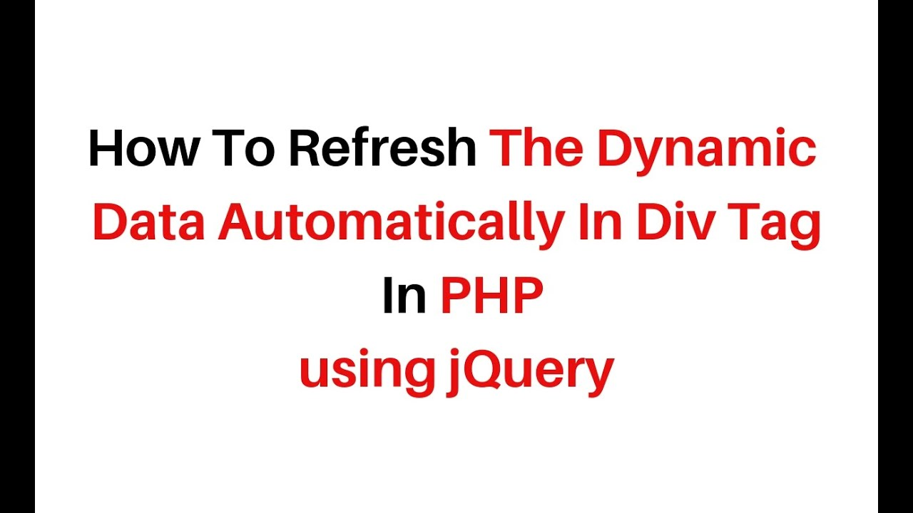 php auto refresh div jquery 3.3.1 interval fetch records mysql