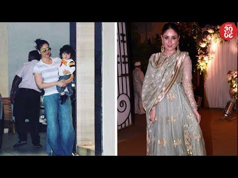 Taimur & His Mommy Pay Visit To Grandma Babita | Kareena's Gorgeous Look In An Ethnic Wear