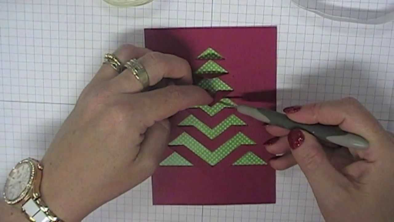 A Video Demonstrating How To Use And Fold The Lace Christmas Tree Template That Is Available F Christmas Tree Cards Lace Christmas Tree Christmas Tree Template