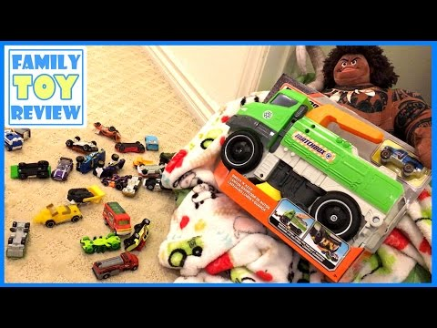 Giant Matchbox Truck Kids Street Sweeper - Moana Maui Makes Kid Pick up Toys - Matchbox Sweep N Keep
