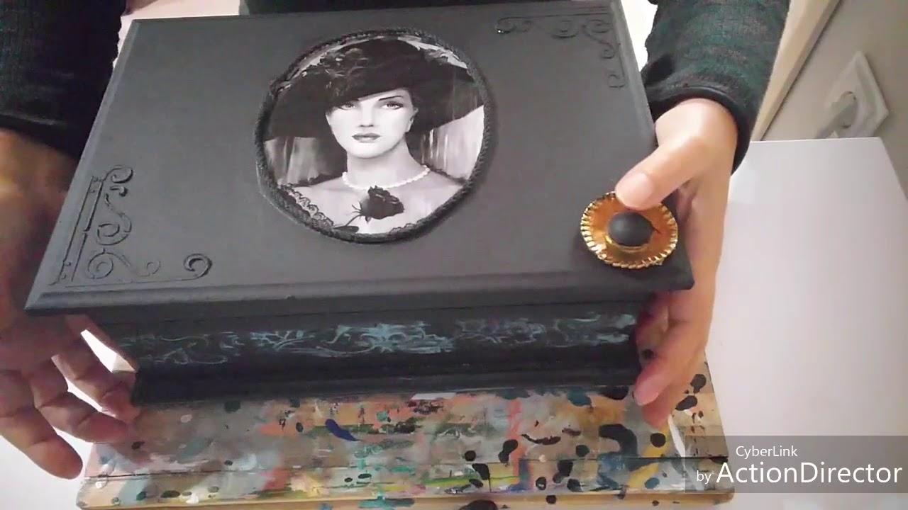 Antik Gorunumlu Taki Kutusu Boyama Antique Box Diy Youtube