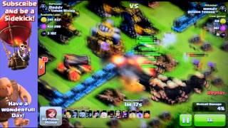 Clash Of Clans [hands video] Clashing with my kids and dragons