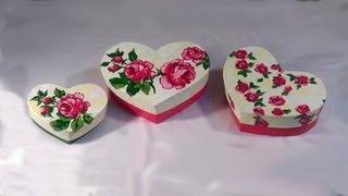 Caixa Coração – Box Heart shape (part 2) – cuadro de corazón