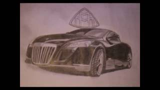 How to draw a Maybach -Drawing / Autozeichnung- (www.autozeichner.com)