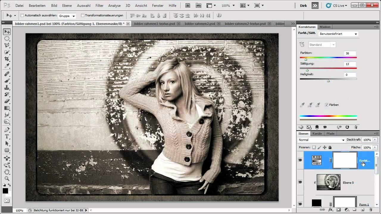 Kreative Bilderrahmen für Ihr Werk - Die Photoshop-Profis - Folge ...